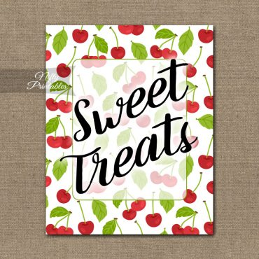 Sweet Treats Dessert Sign - Cherries