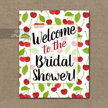 Bridal Shower Welcome Sign - Cherries