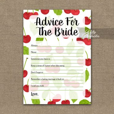Bridal Shower Advice Cards - Cherries