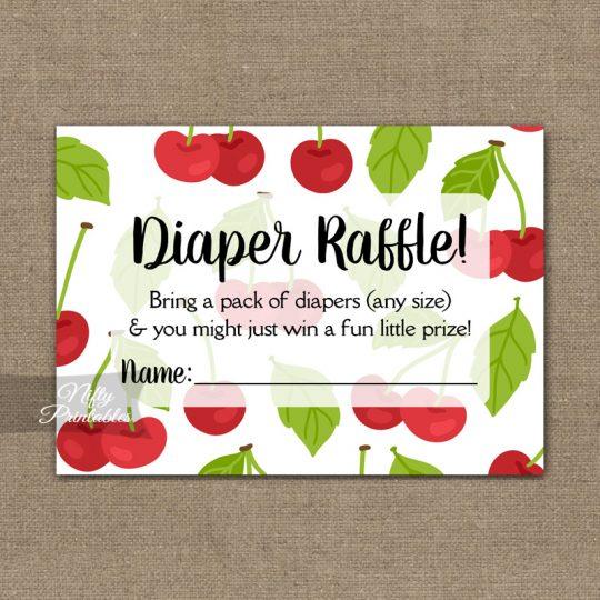 Diaper Raffle Baby Shower - Cherries