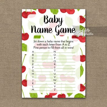 Name Game Baby Shower - Cherries