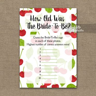 How Old Is The Bride Shower Game - Cherries