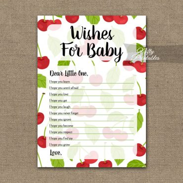 Wishes For Baby Shower Game - Cherries