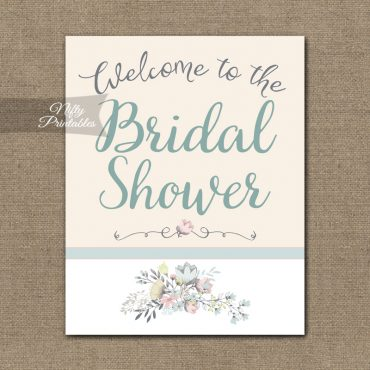 Bridal Shower Welcome Sign - Floral Bouquet