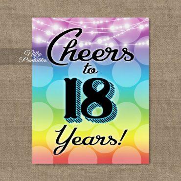 18th Birthday Sign - Rainbow LGBQ