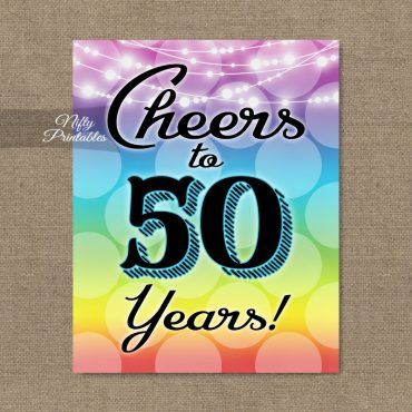 50th Birthday Sign - Rainbow LGBTQ