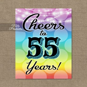 55th Birthday Sign - Rainbow LGBQ