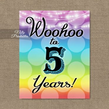 5th Birthday Sign - Rainbow