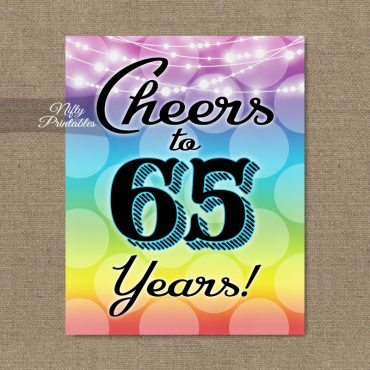 65th Birthday Sign - Rainbow LGBQ
