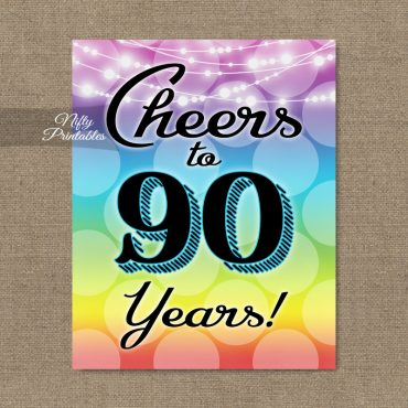 90th Birthday Party Invitations Decorations