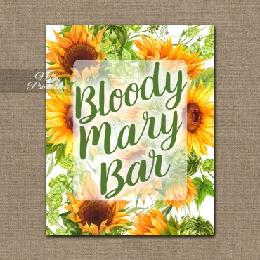 Bloody Mary Bar Sign - Sunflowers