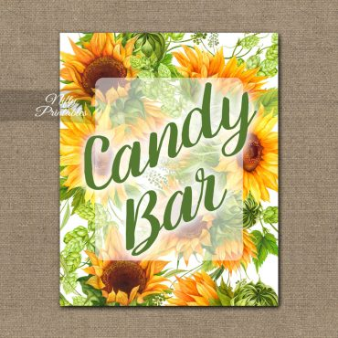 Candy Bar Sign - Sunflowers