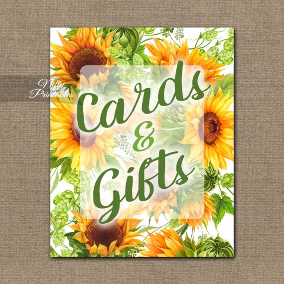 Cards Gifts Sign - Sunflowers
