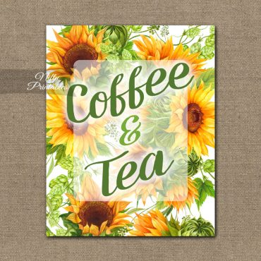 Coffee Tea Sign - Sunflowers