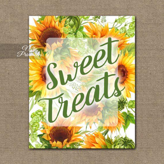 Sweet Treats Dessert Sign - Sunflowers