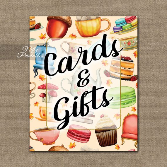 Cards Gifts Sign - Tea Party