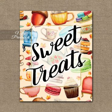 Sweet Treats Dessert Sign - Tea Party