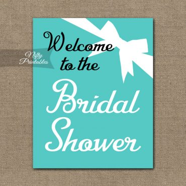 Bridal Shower Welcome Sign - Tiffany Bow