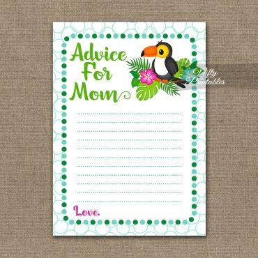 Advice For Mommy Baby Shower Game - Tropical Toucan
