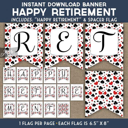 Retirement Banner - Casino Poker