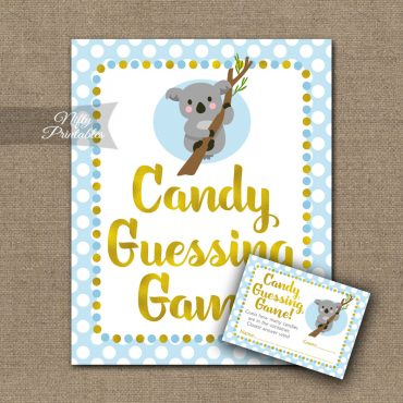 Candy Guessing Game - Koala Blue Gold