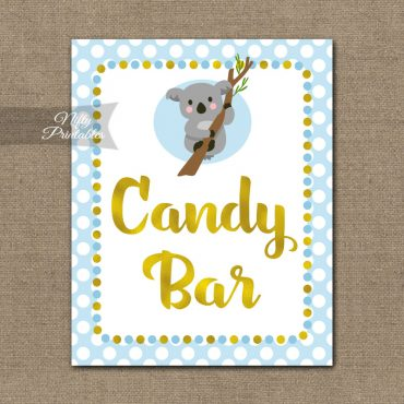 Candy Bar Sign - Koala Blue Gold