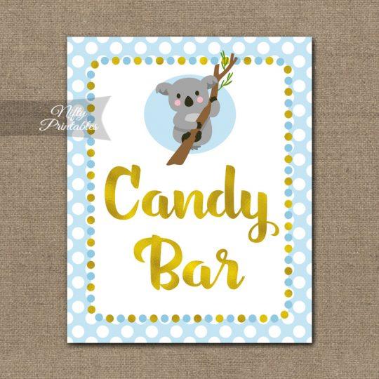 Candy Bar Sign - Koala Blue Gold