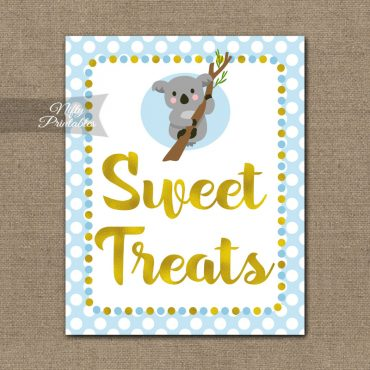 Sweet Treats Dessert Sign - Koala Blue Gold