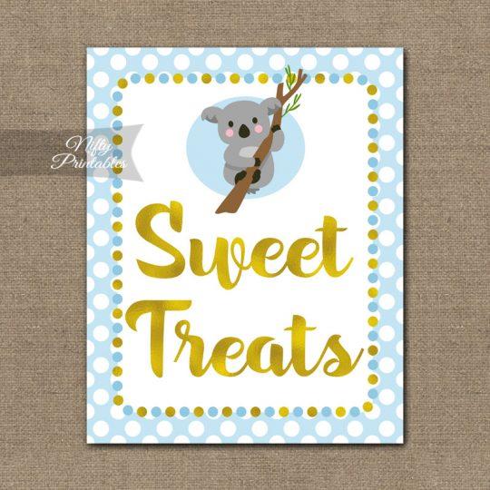 Sweet Treats Dessert Sign - Koala Blue Gold