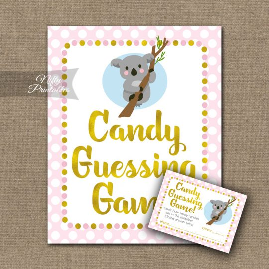 Candy Guessing Game - Koala Pink Gold