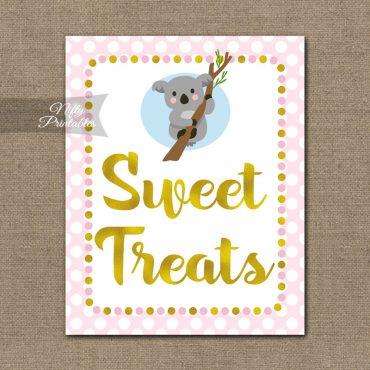 Sweet Treats Dessert Sign - Koala Pink Gold
