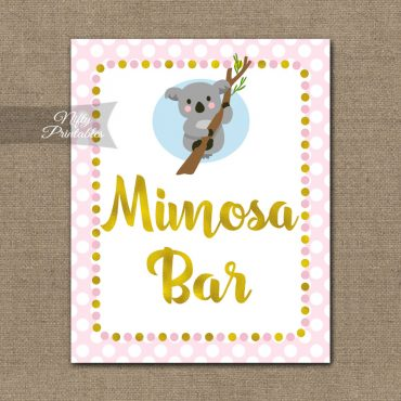 Mimosa Bar Sign - Koala Pink Gold