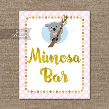 Mimosa Bar Sign - Koala Pink Gold