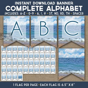 Alphabet Party Banner - Ocean Beach