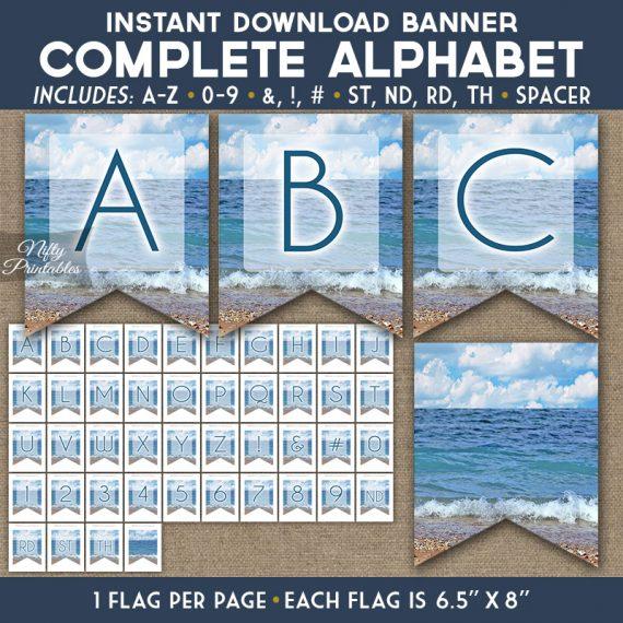 Alphabet Party Banner - Ocean Beach