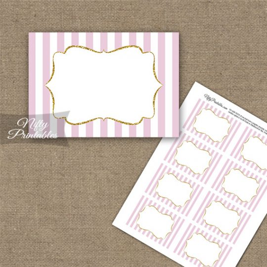Pink Gold Blank Labels Nametags