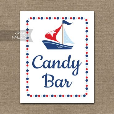 Candy Bar Sign - Sailboat Nautical
