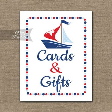 Cards Gifts Sign - Sailboat Nautical