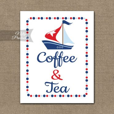 Coffee & Tea Sign - Sailboat Nautical