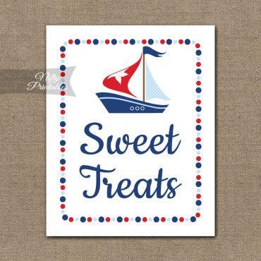 Sweet Treats Dessert Sign - Sailboat Nautical