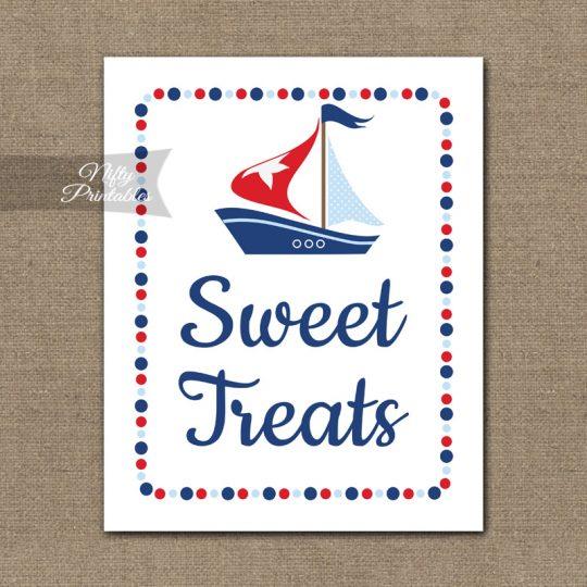 Sweet Treats Dessert Sign - Sailboat Nautical