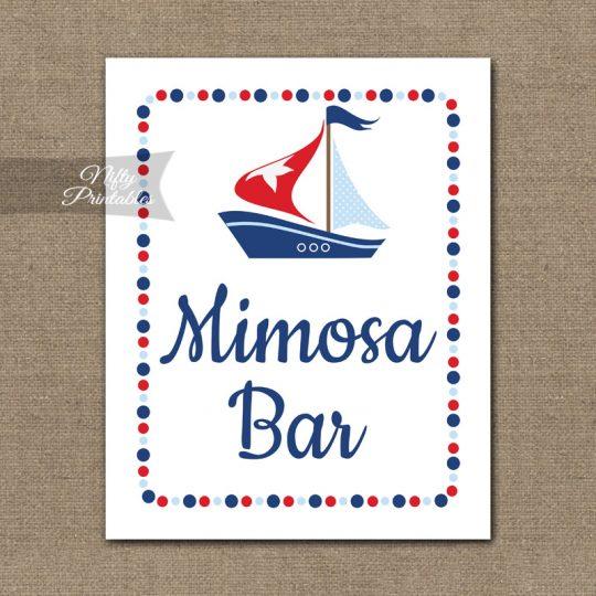 Mimosa Bar Sign - Sailboat Nautical