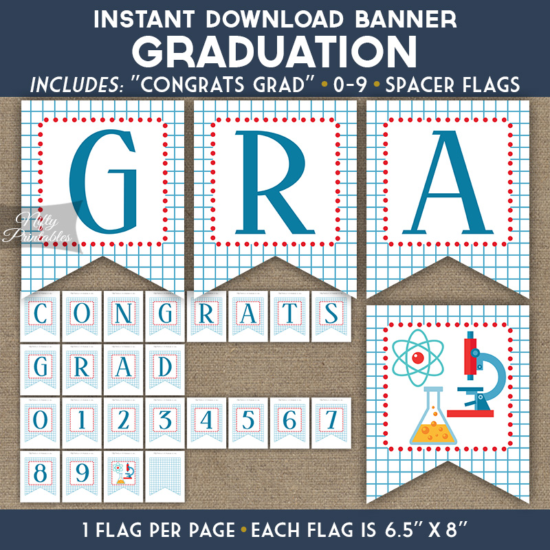 Graduation Banner - Science Chemistry