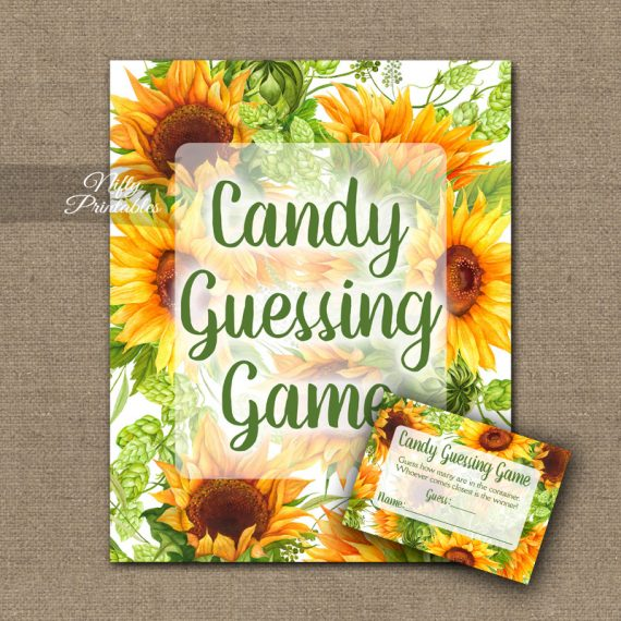 Candy Guessing Game - Sunflowers