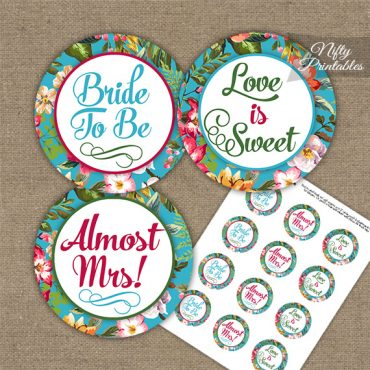 Bridal Shower Toppers - Tropical Floral