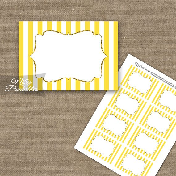 Yellow Gold Stripe Blank Labels