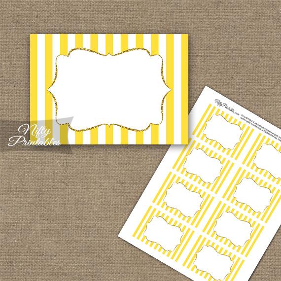 Yellow Gold Stripe Blank Labels