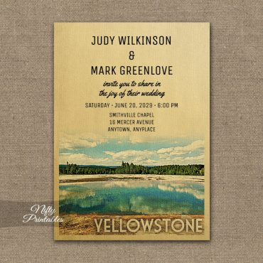 Yellowstone Park Wedding Invitation PRINTED