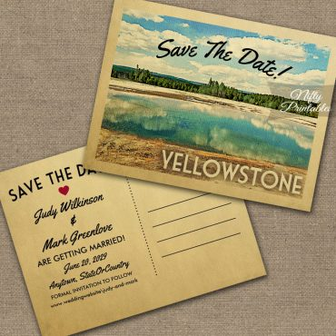 Yellowstone Park Save The Date PRINTED