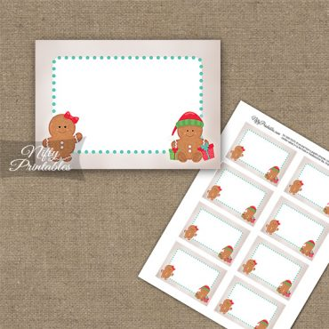 Gingerbread Holidays Blank Labels